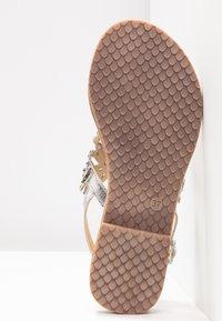 Tamaris - T-bar sandals - silver - 6