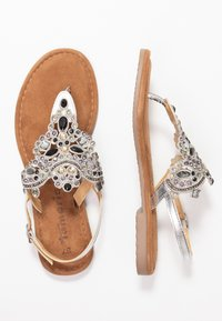 Tamaris - T-bar sandals - silver - 3