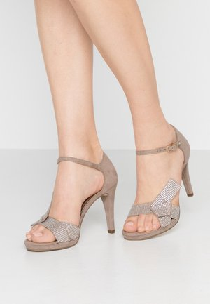 High Heel Sandalette - pepper