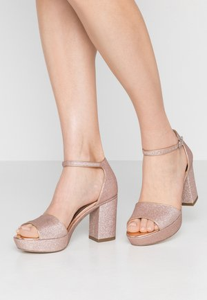 High heeled sandals - rose glam