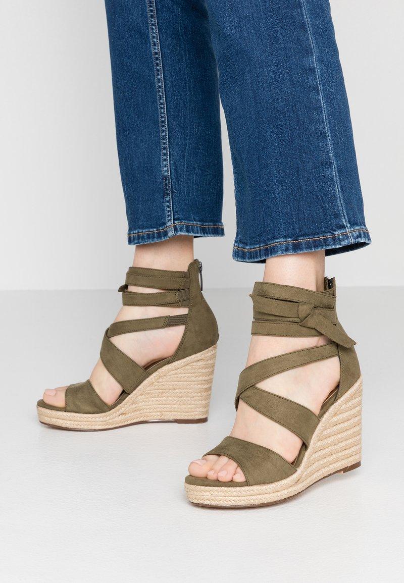 Tamaris - High heeled sandals - khaki
