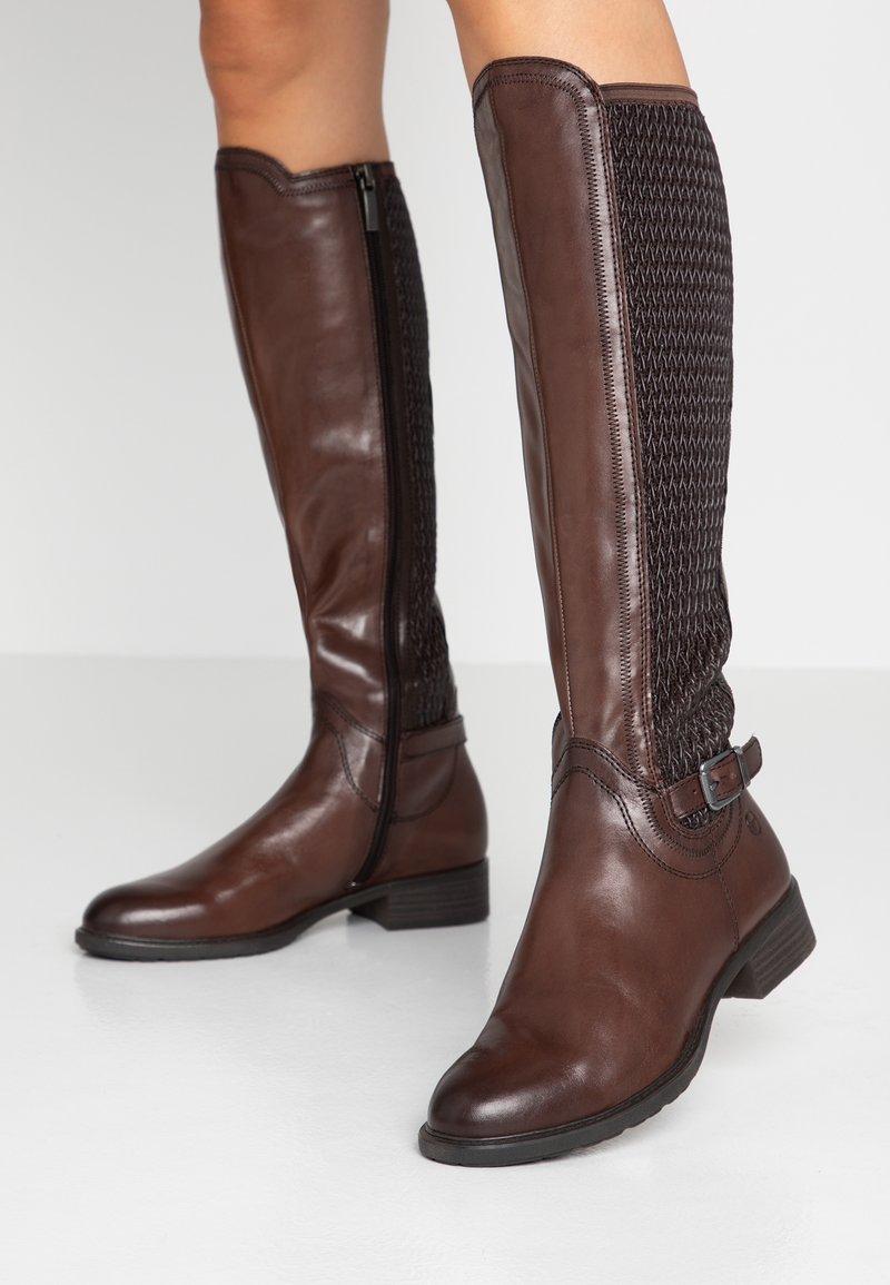 Tamaris - Høje støvler/ Støvler - mocca