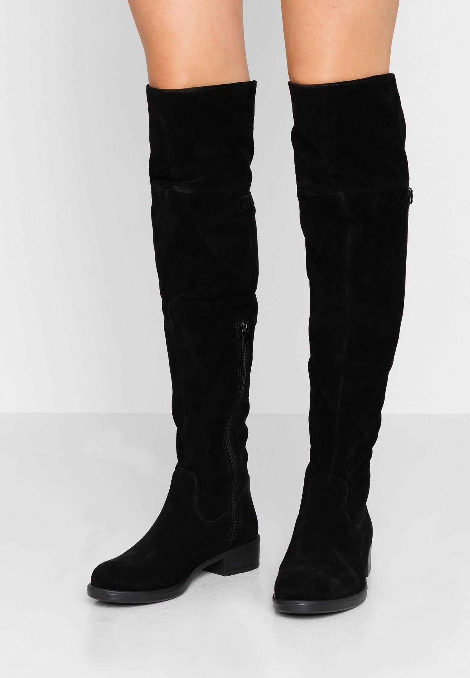 ALDO Stivali al ginocchio pianta larga casual in pelle | ASOS