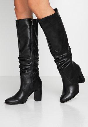 Boots med høye hæler - black matt