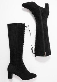 Tamaris - Šněrovací vysoké boty - black - 3