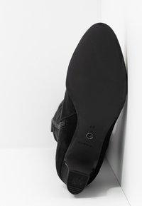 Tamaris - Šněrovací vysoké boty - black - 6