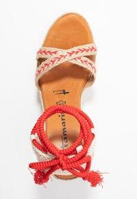 Tamaris - Sandály na vysokém podpatku - red/nature - 3
