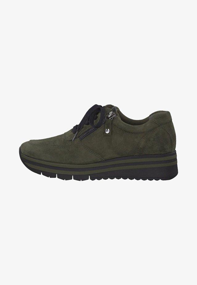 TAMARIS - Sneakers laag - olive suede