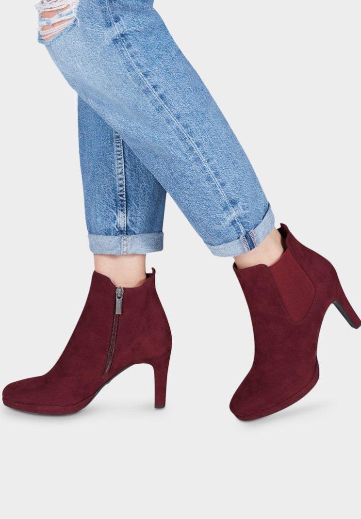 Tamaris - High Heel Stiefelette - red
