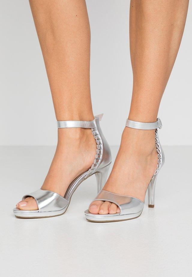 High Heel Sandalette - silver