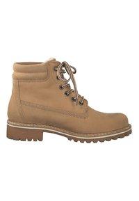 Tamaris - Šněrovací kotníkové boty - beige - 4