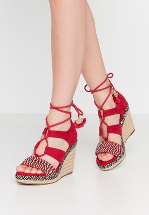 High heeled sandals - lipstick