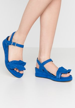 Sandalen met plateauzool - royal