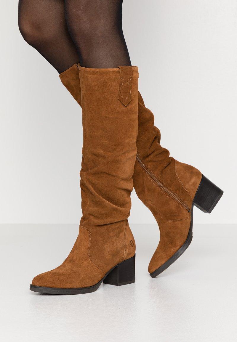 Tamaris - BOOTS - Støvler - cognac