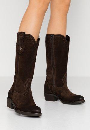 BOOTS - Stivali texani / biker - mocca