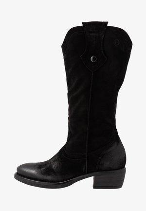 BOOTS - Kovbojské/motorkářské boty - black