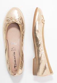 Tamaris - Ballet pumps - gold - 3