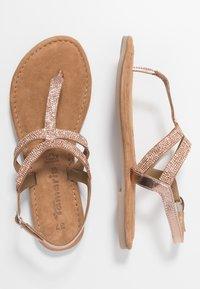 Tamaris - Sandály s odděleným palcem - copper - 3