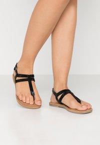 Tamaris - T-bar sandals - black - 0