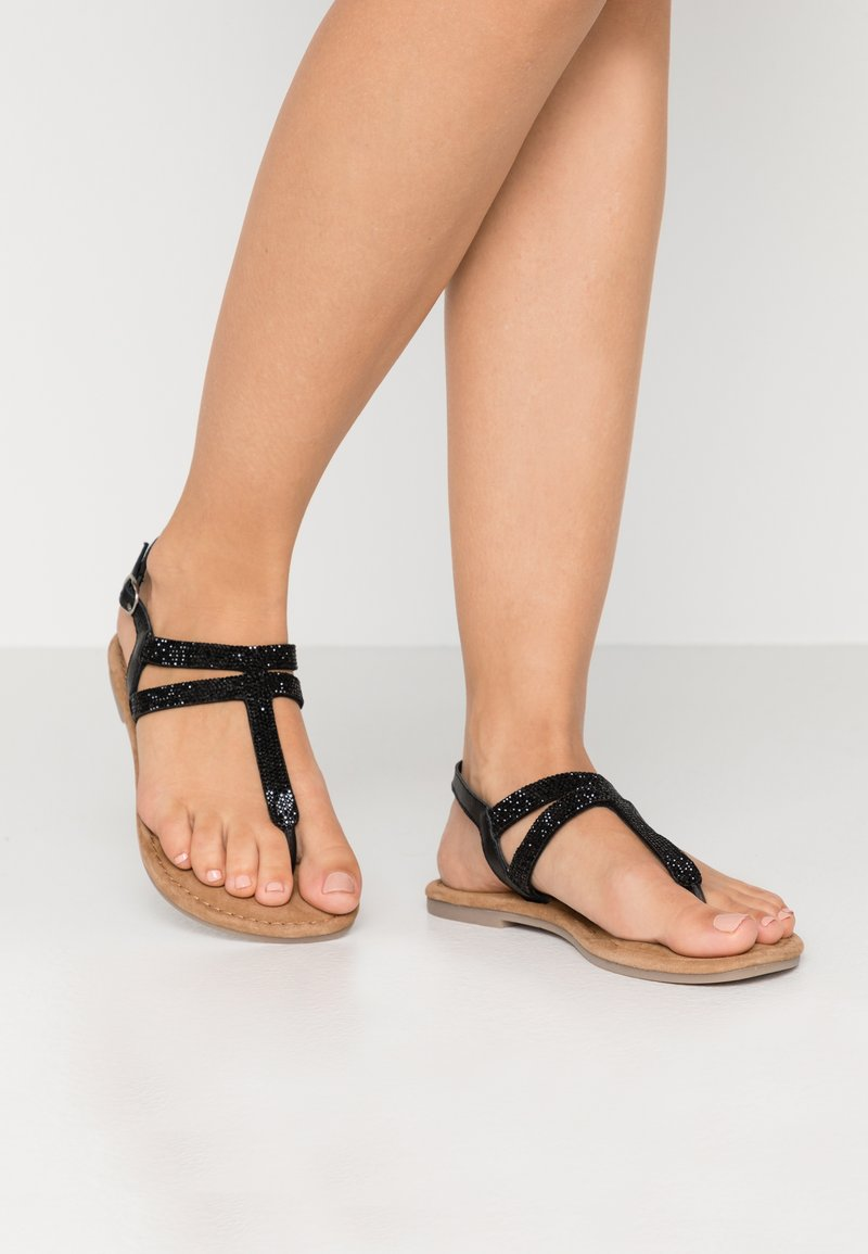 Tamaris - T-bar sandals - black