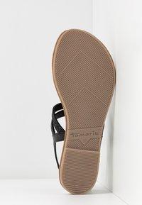 Tamaris - T-bar sandals - black - 6