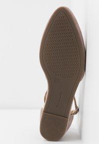Tamaris - Ankle strap ballet pumps - taupe - 6