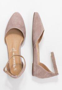 Tamaris - Ankle strap ballet pumps - taupe - 3