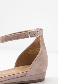 Tamaris - Ankle strap ballet pumps - taupe - 2