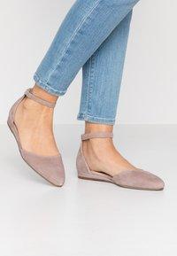 Tamaris - Ankle strap ballet pumps - taupe - 0