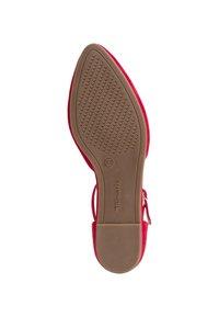 Tamaris - Ankle strap ballet pumps - lipstick - 3
