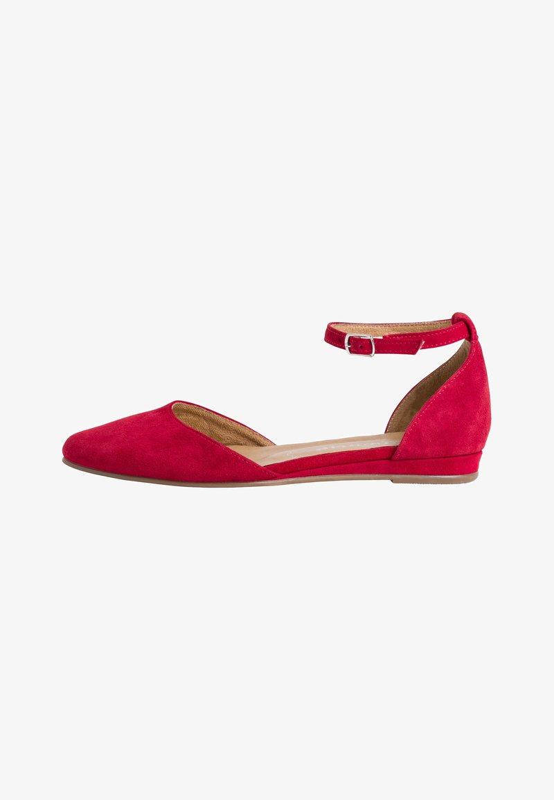 Tamaris - Ankle strap ballet pumps - lipstick