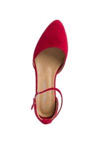 Tamaris - Ankle strap ballet pumps - lipstick - 1