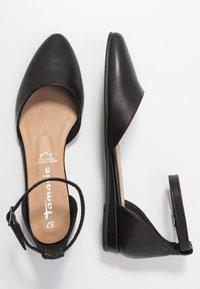 Tamaris - Ankle strap ballet pumps - black - 3