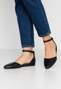 Tamaris - Ankle strap ballet pumps - black - 0