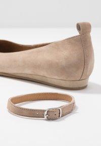 Tamaris - Ankle strap ballet pumps - taupe - 7
