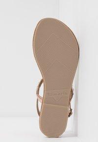 Tamaris - Sandály s odděleným palcem - rose metallic - 5