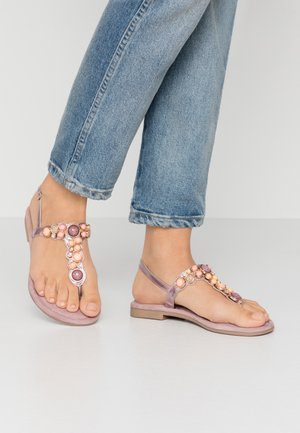 T-bar sandals - lilac metallic