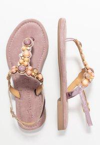 Tamaris - T-bar sandals - lilac metallic - 3