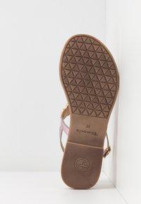 Tamaris - T-bar sandals - lilac metallic - 6