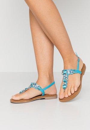 T-bar sandals - turquoise
