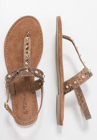 Tamaris - T-bar sandals - taupe - 3