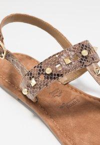 Tamaris - T-bar sandals - taupe - 2