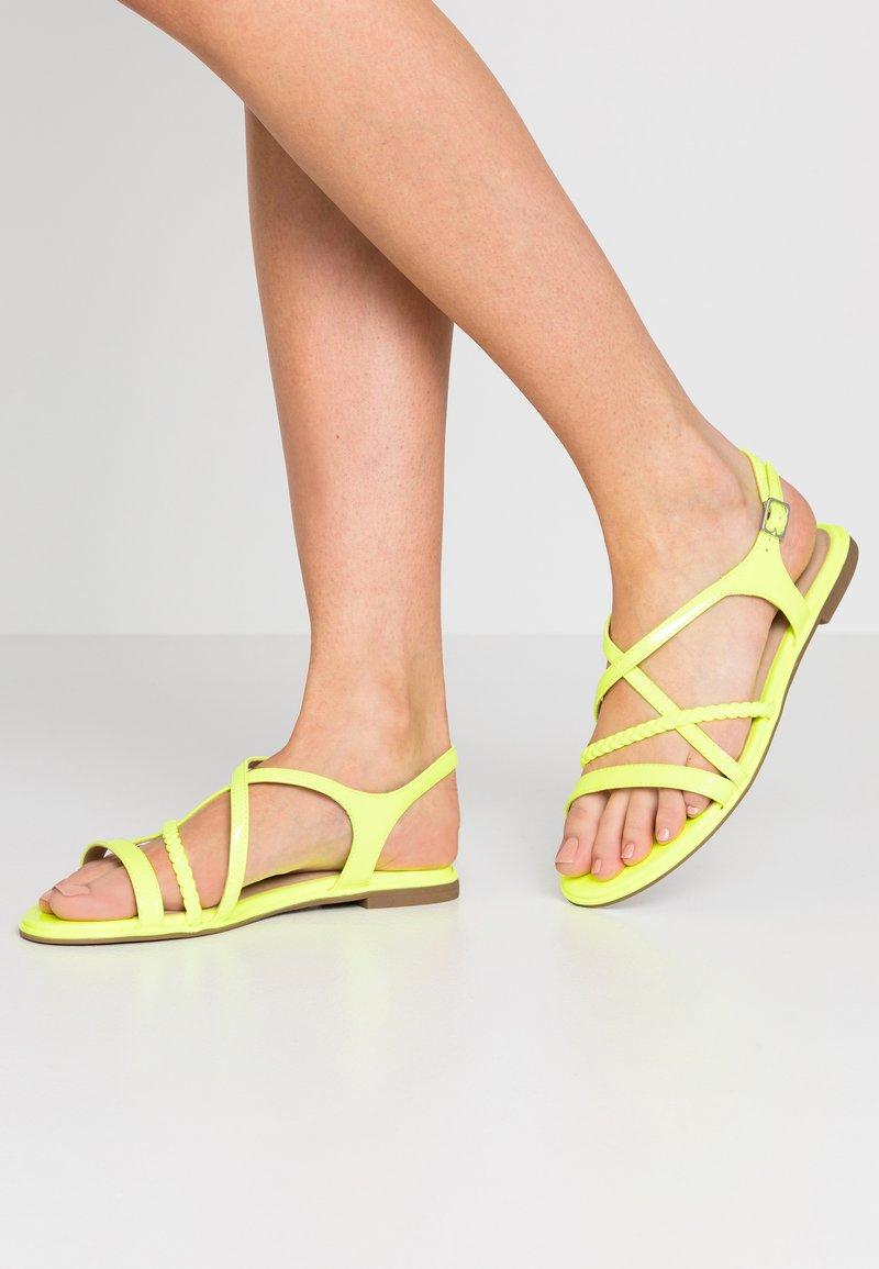 Tamaris - Sandals - yellow neon