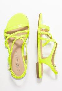 Tamaris - Sandals - yellow neon - 3
