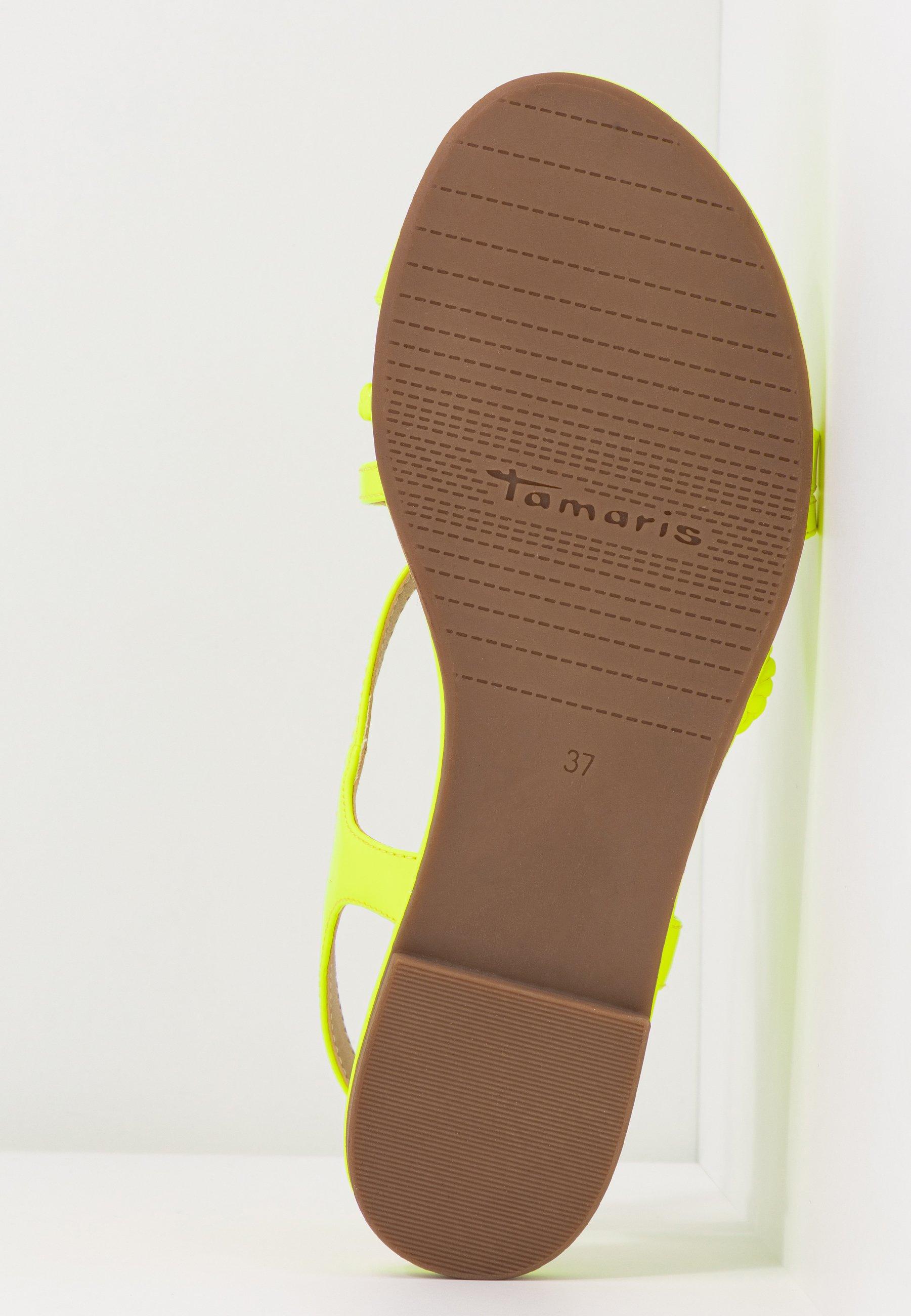 Tamaris Sandaler - yellow neon