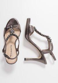 Tamaris - Korolliset sandaalit - pewter - 3