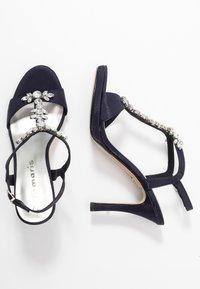 Tamaris - Højhælede sandaletter / Højhælede sandaler - navy metallic - 3