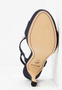 Tamaris - Højhælede sandaletter / Højhælede sandaler - navy metallic - 6