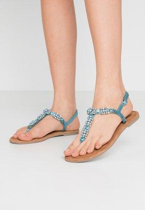 T-bar sandals - turquoise metallic