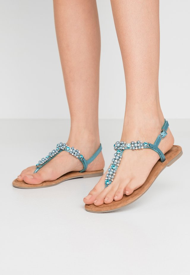 T-bar sandals - turquoise metallic